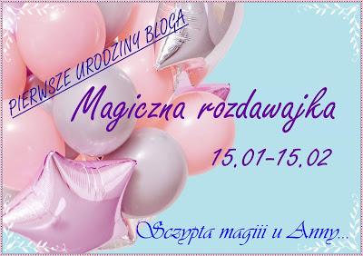 """rozdawajka na blogu """" Szczypta Magii u Anny"""""""