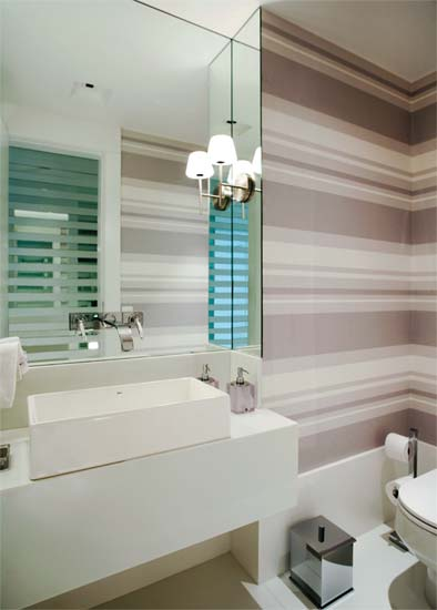 Lavabos!!!  Jeito de Casa  Blog de Decoração -> Banheiro Moderno Com Papel De Parede
