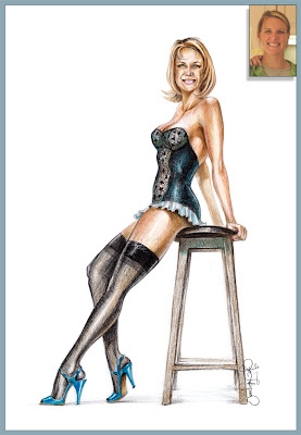 custom pinup from photograph