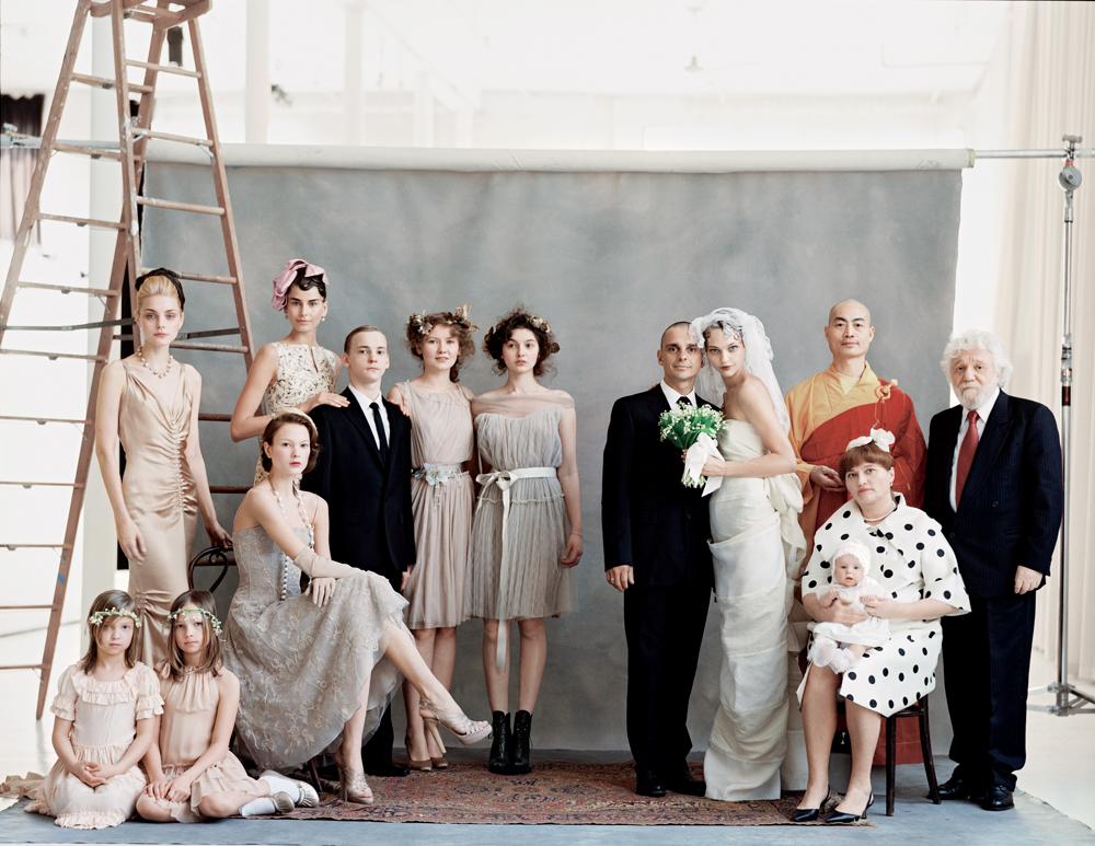 Sasha Pivovarova in The wedding party / Vogue US June 2009 (photography: Arthur Elgort) via fashioned by love british fashion blog
