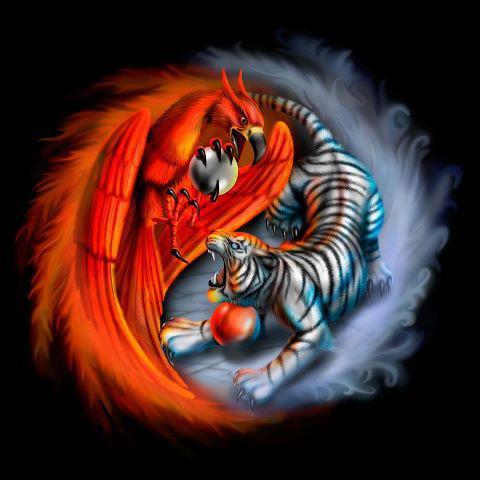 Ying-Yang del Tigre y el Ave Fénix - Elfos, Hadas y un Mundo Mágico