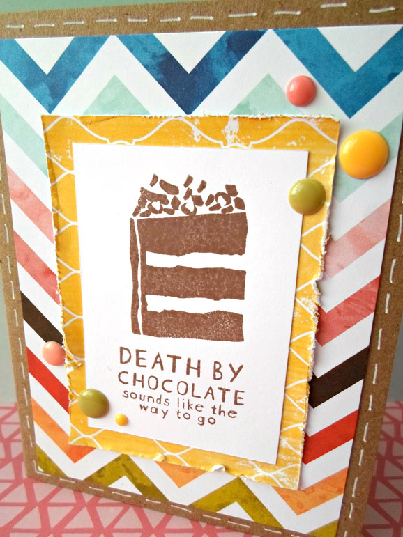 Death By Chocolate Card