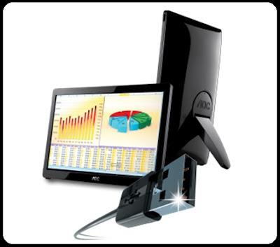 AOC e1649fwu Monitor 16 Inchi Dengan Input USB