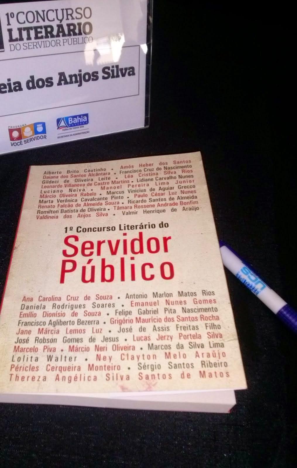 Participação no livro do I Concurso Literário do Servidor Público do Estado da Bahia