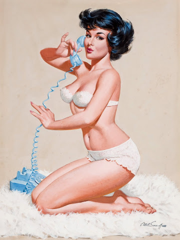 telephone pin up girl