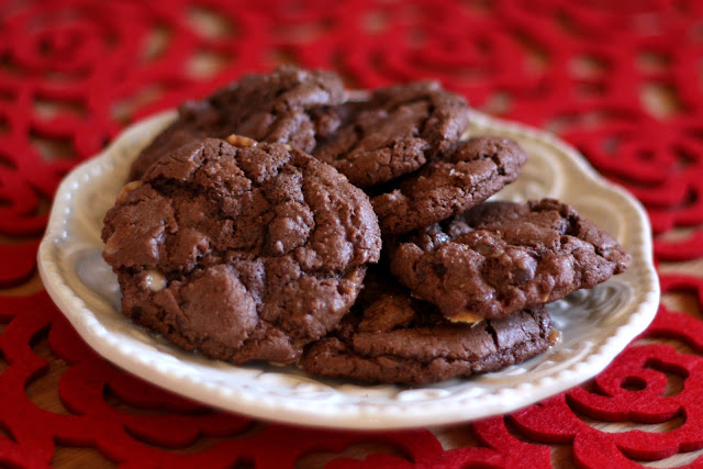 Dark Chocolate Toffee Cookies - Gluten Free or Not recipe by Barefeet In The Kitchen