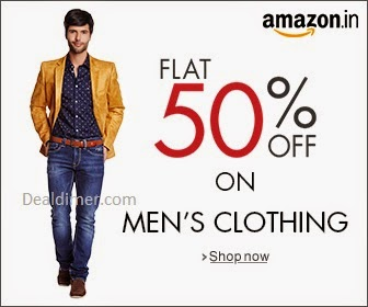 Men's Clothing upto 60% off + Additional 20% off