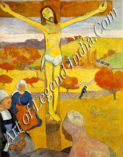 "The Great Artist Paul Gauguin Painting ""The Yellow Christ 1889"" 36 3/4 x 28 ¾ Albright Art Gallery, Buffalo"