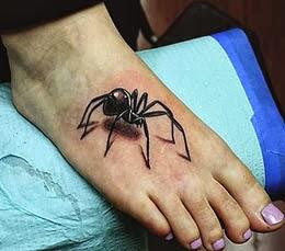 Fotos de tatuagens de aranha 3D