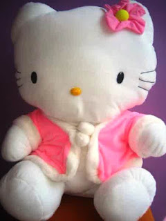 Boneka hello kitty lucu warna pink putih