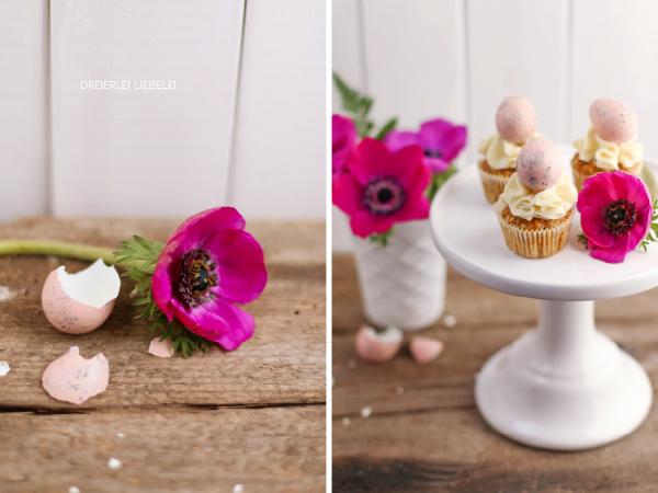 Möhren-Kokos-Cupcakes mit weißer Schokoladencreme