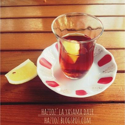 limonlu çay hazioz