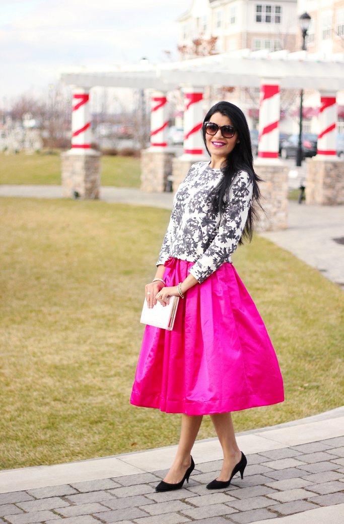 Kate Spade Book Clutch, Kate Spade Age Of Innocence Book Clutch, Pink Midi Skirt, Party Skirts