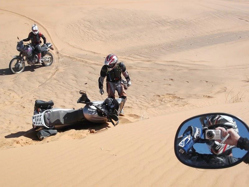Caida por las dunas