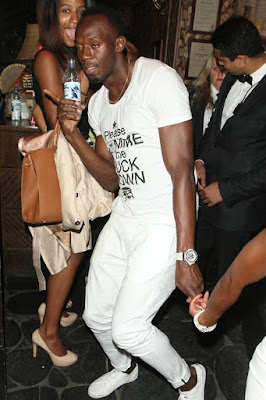 Usain Bolt was caught in an embarrassing moment recently after he left an exclusive London nightclub forgetting to settle the hefty bill.   Usain Bolt descended on the newly-opened Drama, on the upmarket Mayfair, along with his friends.