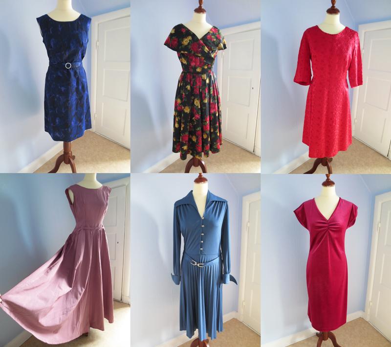 Vintageklänningar till salu