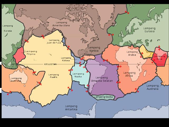 peta lempeng tektonik bumi