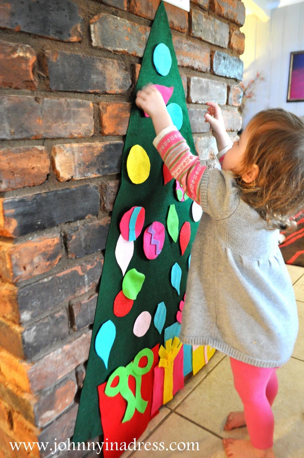 Johnny In A Dress: Play Felt Tree & Ornaments