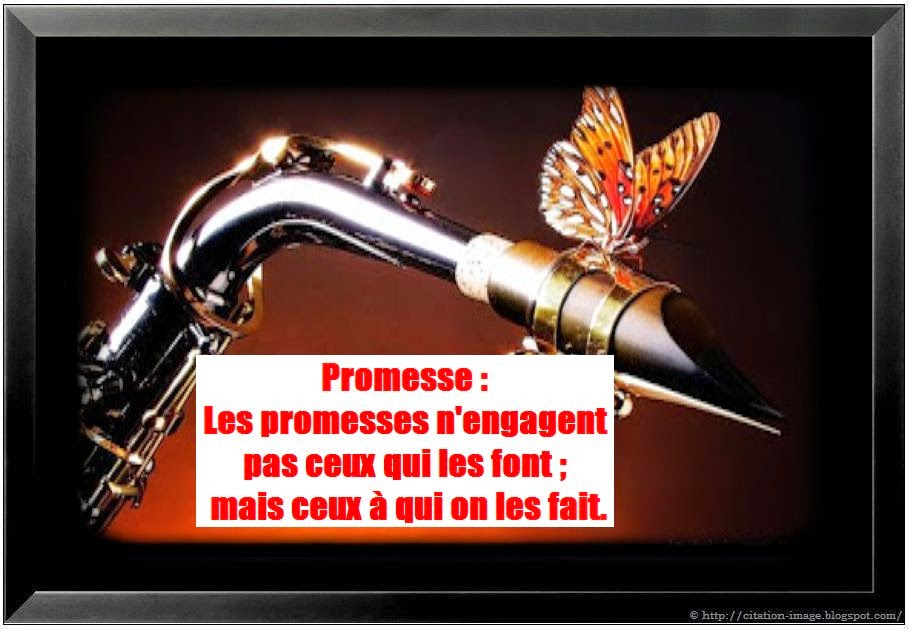 Jolie citation promesse en image