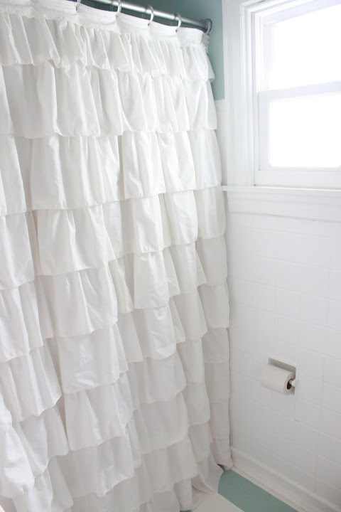 Ye Olde Sandwich Shoppe: $1 Anthropologie-esque Ruffled Shower Curtain