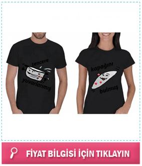 Espirili Tencere Kapak Modeli T-Shirt