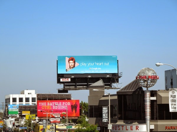 David Bowie Google Play your heart out billboard