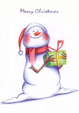 Christmas Snowman cards printable Photos