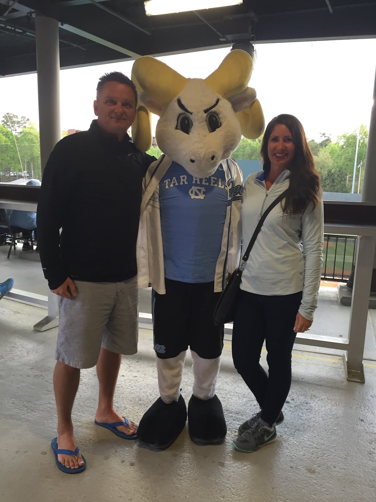 My Hubby and I, and our Tarheel