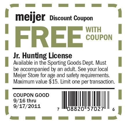 Michigan hunting report free jr hunting license 9 16 9 for Free fishing license
