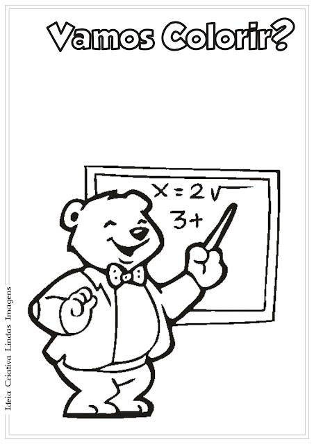 Desenho Professor pra colorir