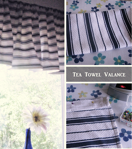 how to make a valance out of tea towels