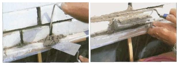 Заделывание и расшивка швов кирпичной кладки