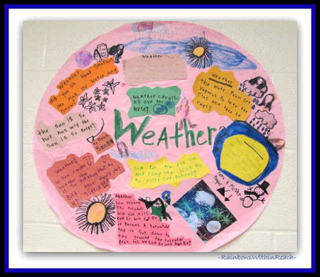 "Weather ""Report"" in Elementary School from Weather RoundUP at RainbowsWithinReach)"