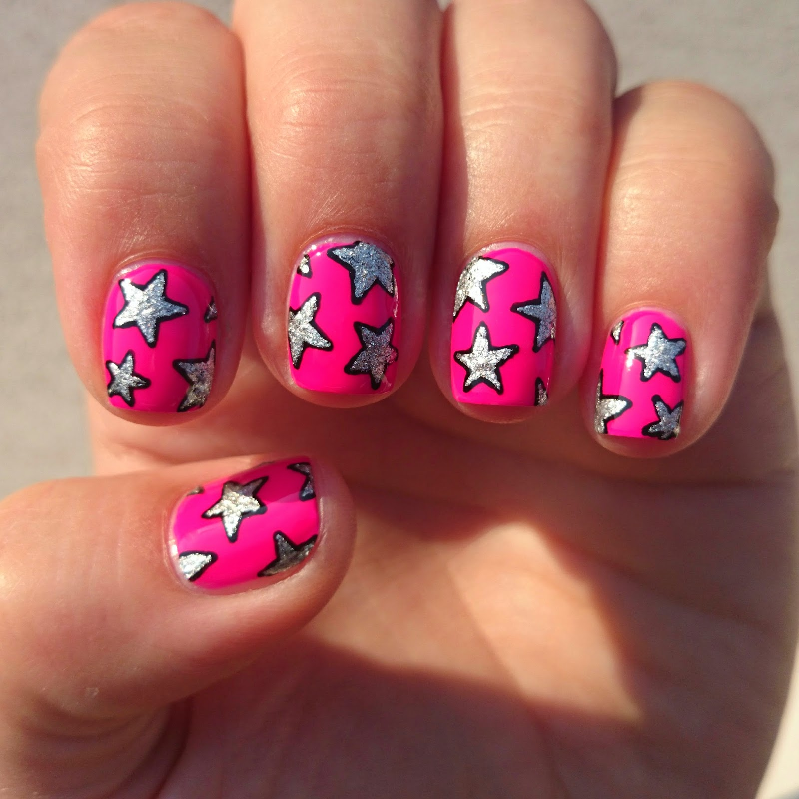 Dahlia nails playboy stars with a nail art pen and then filled them in with in the 90s i love this design and might try it again with some pastels or other slightly more subtle prinsesfo Image collections