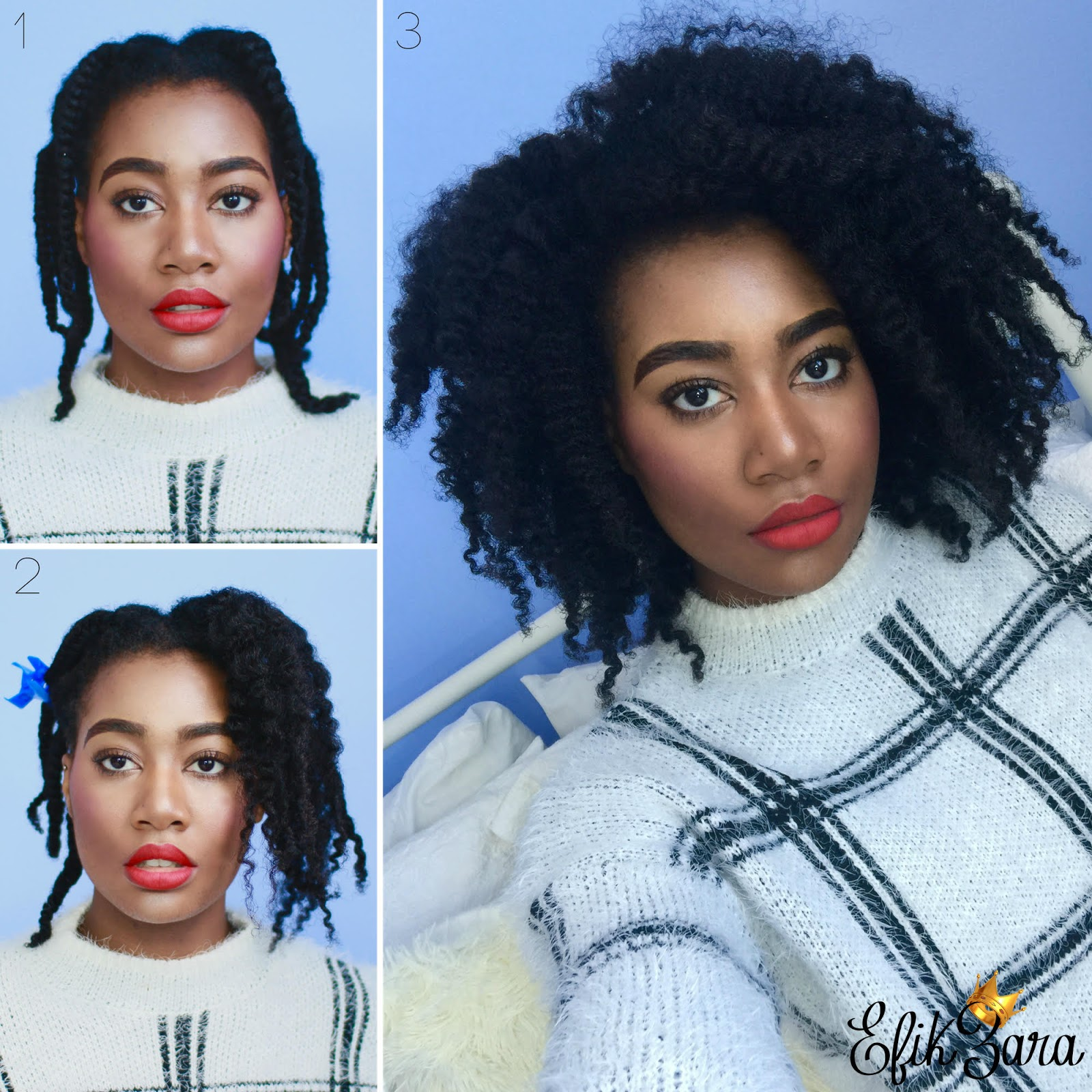 Natural Hairstyles How To Get A Big Bouncy Braid Out CurlyNikki