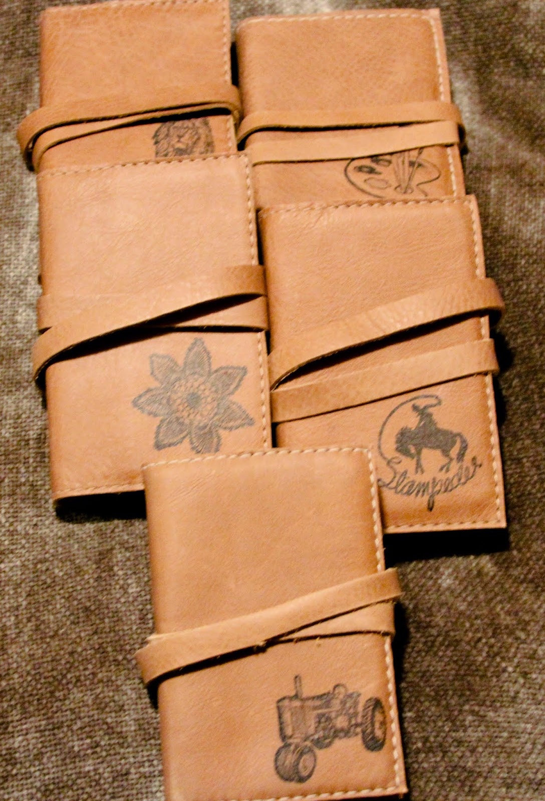 small leather journals