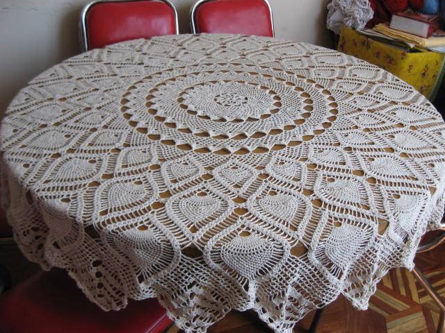 Creando con angelica mantel a crochet - Mantel de crochet ...
