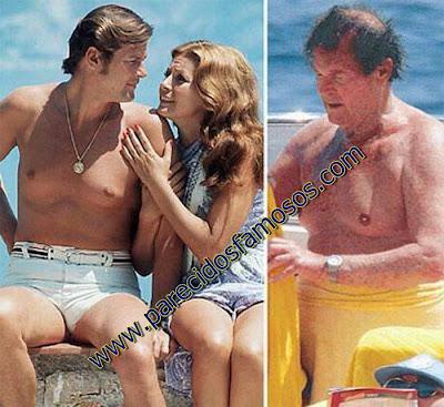 Roger Moore antes y después