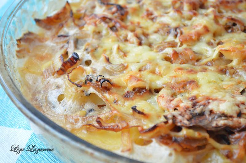 Запеканка с картошкой и луком в духовке рецепт