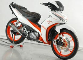 Modifikasi Yamaha All New Jupiter Z1 Putih Orange