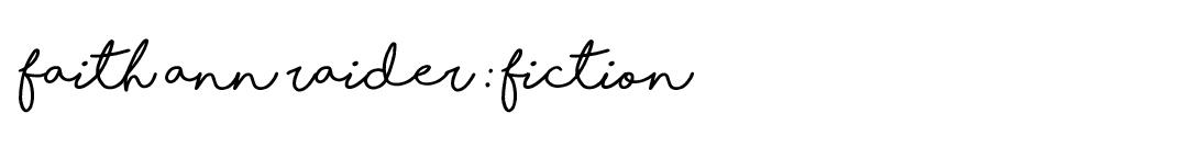Faith Raider Fiction