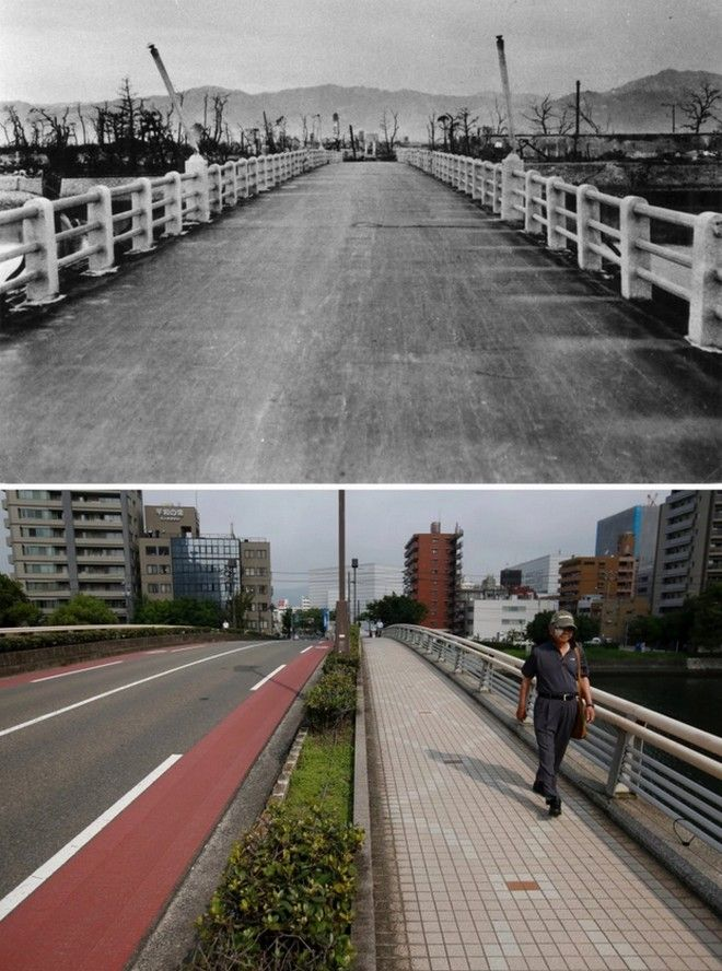 Hiroshima Then And Now You Won't Believe What It Looks Like Today! - Aioi Bridge in Hiroshima
