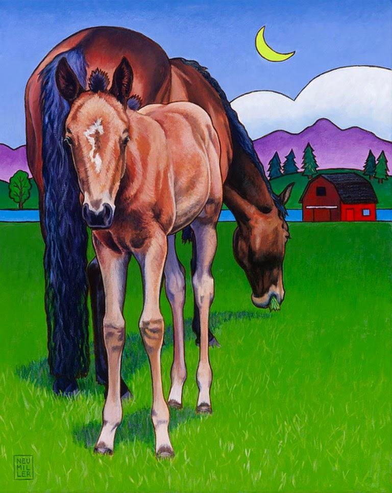 cuadros-caballos-coloridos-modernos