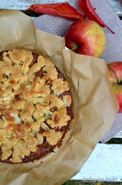 Apfelstreuselkuchen Honig Mandeln Äpfel