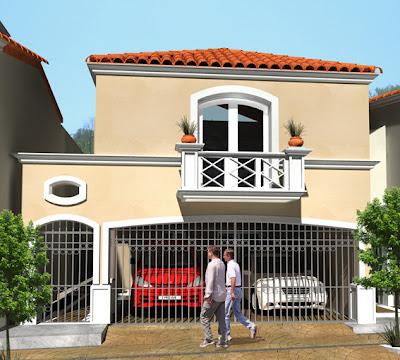 Casas mexicanas fachada 3 de casa mexicana moderna en for Fachadas de casas mexicanas