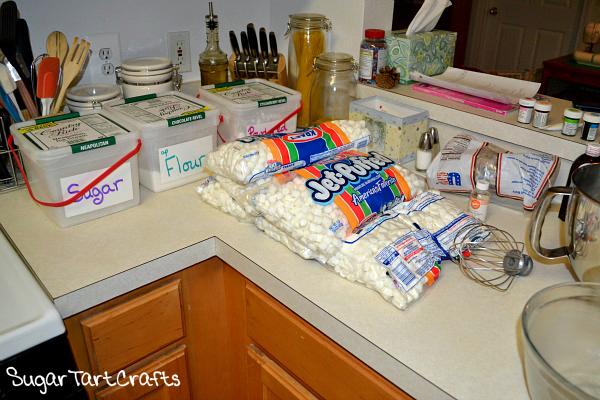 Prepping to make marshmallow fondant