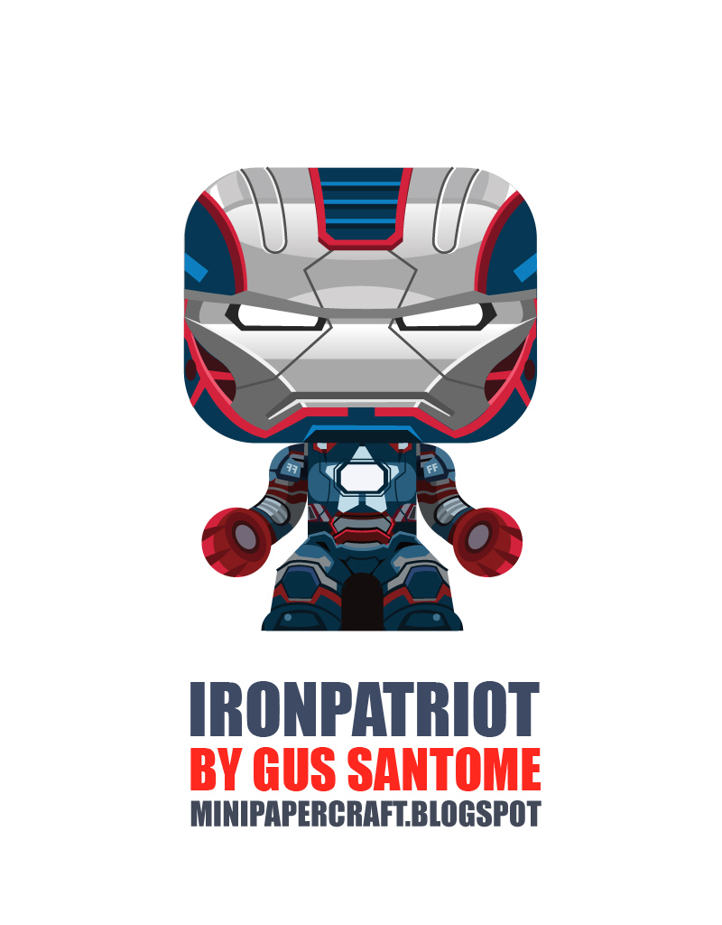 Mini Iron Patriot Paper Toy