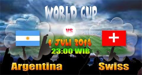 PREVIEW Pertandingan Argentina vs Swiss 1 Juli 2014 Malam Ini