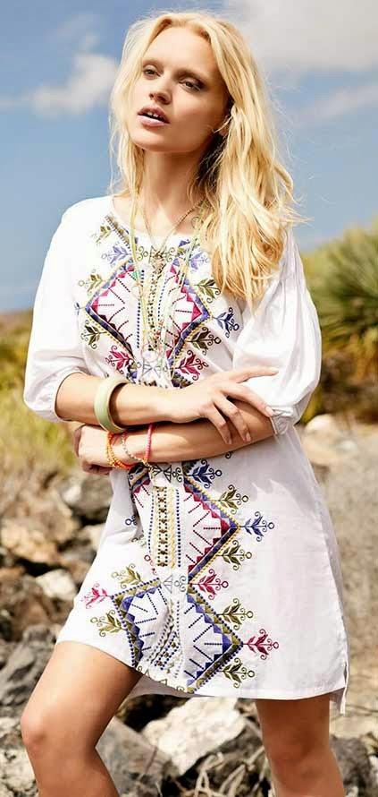 vestido bordado verano 2015 IndiaStyle