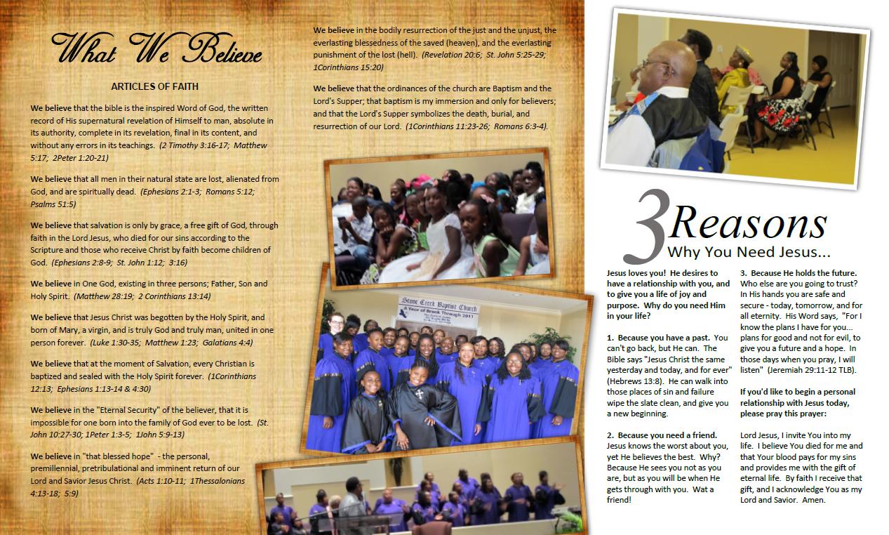 Miranda design studio brochure design for church for Church brochure design